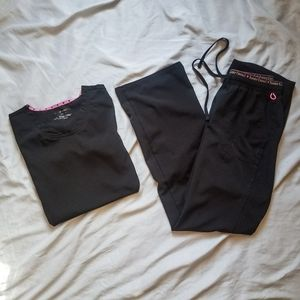 heartSoul Scrub Set - Black- XXS top/XS pants